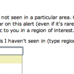 Selecting a county for alerts