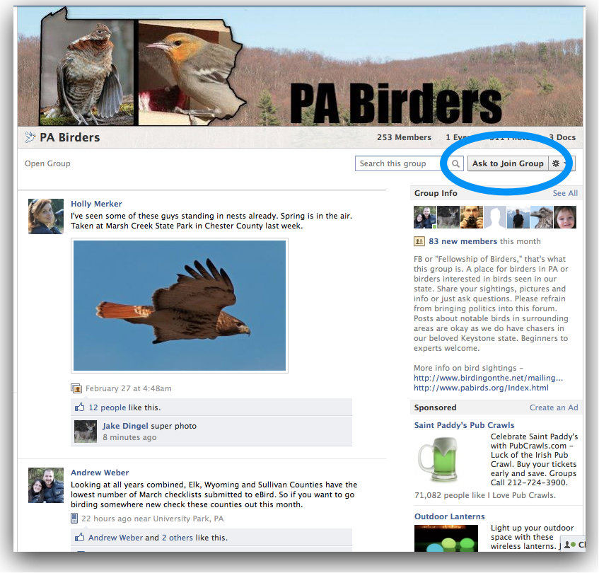 Join the PA Birders on Facebook