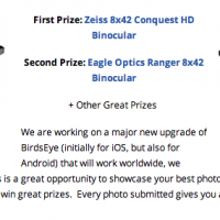 BirdsEye photo contest details