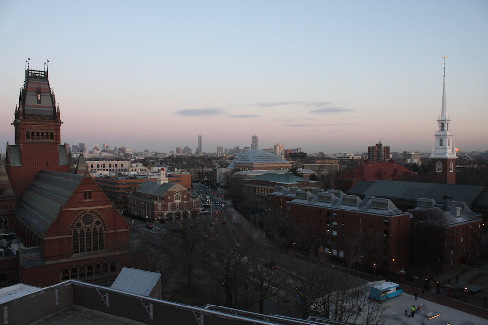 The view from Harvard's science center