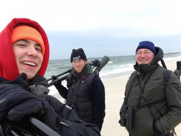 Me, Jay, and Kevin after finally making it to the ocean a second time for the day (Photo by Nathan Goldberg)