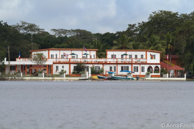 Bird's Eye View Lodge, as seen from boat tour